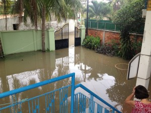 In November our house flooded - inside and out!